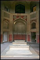 Tomb inside cenotaph, Humayun's tomb. New Delhi, India (color)