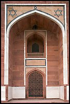 Side alcove, Humayun's tomb. New Delhi, India ( color)