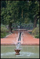 Basin and Mughal-style watercourses, Humayun's tomb. New Delhi, India ( color)