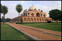 Mughal gardens and main mausoleum, Humayun's tomb. New Delhi, India