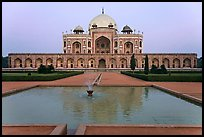 Basin, watercourses, and Humayun's tomb,. New Delhi, India