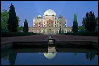 Humayun's tomb at night. New Delhi, India