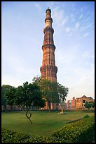 Qutb Minar garden and tower. New Delhi, India ( color)