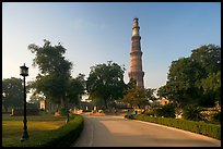 Gardens, and Qutb Minar tower. New Delhi, India ( color)