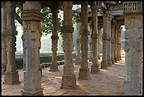 Colonade, Qutb complex. New Delhi, India ( color)