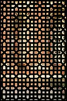 Screened window, Imam Zamin tumb, Qutb complex. New Delhi, India (color)