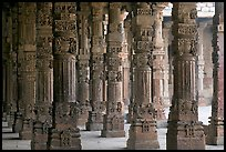 Colonade around  Quwwat-ul-Islam mosque, Qutb complex. New Delhi, India ( color)