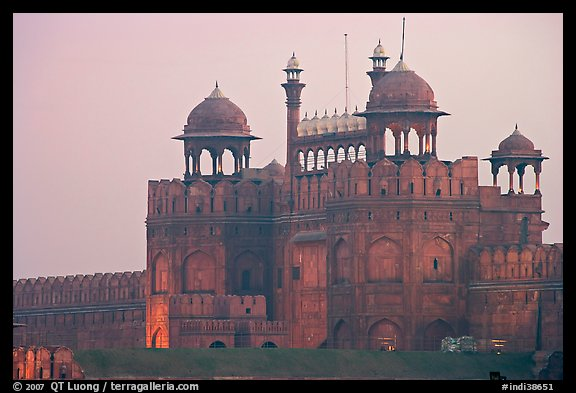 Lahore Gate at dawn. New Delhi, India (color)