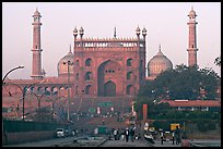 Jama Masjid and East Gate at sunrise. New Delhi, India (color)