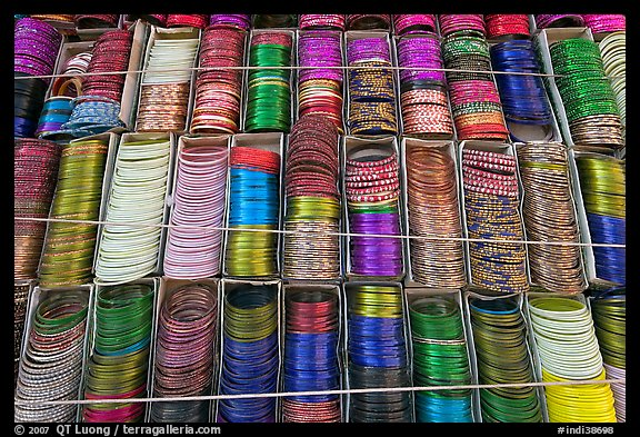 Bangles for sale. Jodhpur, Rajasthan, India (color)