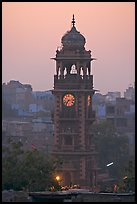 Clock tower at dawn. Jodhpur, Rajasthan, India