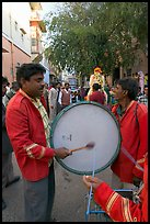 Musicians at wedding. Jodhpur, Rajasthan, India (color)