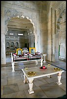 Memorial to Jaswant Singh, inside Jaswant Thada. Jodhpur, Rajasthan, India (color)
