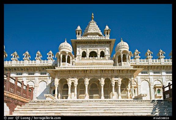 Black Marble Buildings : Picture photo white marble mausoleum jaswant thada