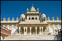 White marble mausoleum, Jaswant Thada. Jodhpur, Rajasthan, India (color)