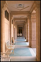 Corridor inside Umaid Bhawan Palace. Jodhpur, Rajasthan, India ( color)