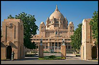 Entrance of Umaid Bhawan Palace. Jodhpur, Rajasthan, India