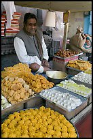 Man selling sweets and pastries. Jodhpur, Rajasthan, India ( color)