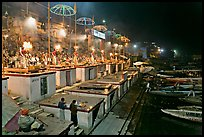 Aarti ceremony on the banks of the Ganga River. Varanasi, Uttar Pradesh, India (color)
