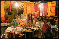 Vendor near Dasaswamedh Ghat at night. Varanasi, Uttar Pradesh, India
