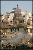 Manikarnika Ghat, most auspicious place to be cremated. Varanasi, Uttar Pradesh, India ( color)