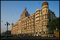 Taj Mahal Palace Hotel and pigeons. Mumbai, Maharashtra, India (color)