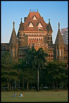 Oval Maiden and High Court. Mumbai, Maharashtra, India (color)