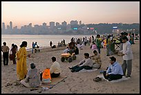 Chowpatty Beach, sunset. Mumbai, Maharashtra, India