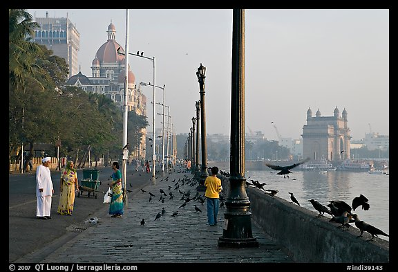 Waterfront, Colaba, early morning. Mumbai, Maharashtra, India