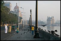 Waterfront, Colaba, early morning. Mumbai, Maharashtra, India (color)