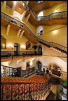 Staircase inside Taj Mahal Palace Hotel. Mumbai, Maharashtra, India (color)