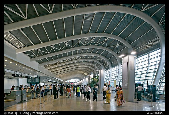 Domestic terminal, Mumbai Airport. Mumbai, Maharashtra, India (color)