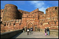Amar Singh Gate, Agra Fort. Agra, Uttar Pradesh, India (color)
