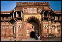 Gate of Jehangiri Mahal, Agra Fort. Agra, Uttar Pradesh, India (color)