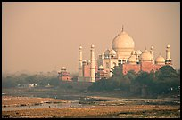 Taj Mahal seen from the Agra Fort. Agra, Uttar Pradesh, India (color)