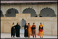 Women in the Khas Mahal, Agra Fort. Agra, Uttar Pradesh, India