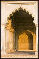 White marble rches, Khas Mahal, Agra Fort. Agra, Uttar Pradesh, India (color)
