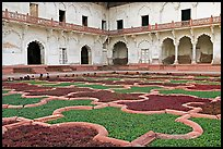 Ornamental gardens, Agra Fort. Agra, Uttar Pradesh, India (color)