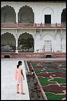 Woman in Anguri Bagh garden, Agra Fort. Agra, Uttar Pradesh, India ( color)