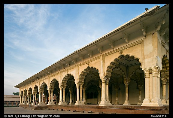 Diwan-i-Am, Agra Fort, late afternoon. Agra, Uttar Pradesh, India (color)