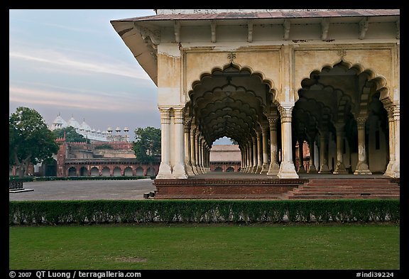 Diwan-i-Am and Moti Masjid in background, Agra Fort. Agra, Uttar Pradesh, India