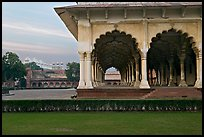 Diwan-i-Am and Moti Masjid in background, Agra Fort. Agra, Uttar Pradesh, India (color)
