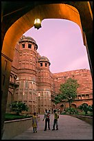 Main gate, Agra Fort, sunset. Agra, Uttar Pradesh, India (color)