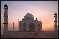 Taj Mahal at sunrise. Agra, Uttar Pradesh, India (color)
