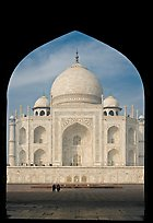 Taj Mahal framed by arch of Jawab. Agra, Uttar Pradesh, India ( color)