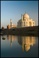Taj Mahal reflected in Yamuna River. Agra, Uttar Pradesh, India ( color)