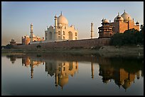 Jawab, Taj Mahal, and Taj Mahal mosque. Agra, Uttar Pradesh, India (color)