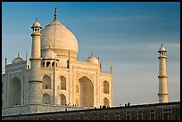 Taj Mahal and minarets, late afternoon. Agra, Uttar Pradesh, India