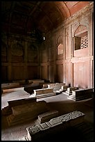 Tombs, including Islam Khan's in the Jama Masjid mosque. Fatehpur Sikri, Uttar Pradesh, India (color)