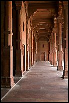 Prayer hall, Dargah (Jama Masjid) mosque. Fatehpur Sikri, Uttar Pradesh, India (color)